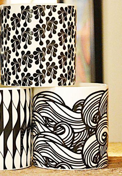 Patterns on mugs via Print & Pattern