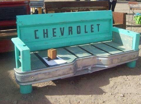 Tailgate benchChevy Trucks, Projects, Stuff, Back Porches, Cool Ideas, Tailgate Bench, Diy, Man Caves, Tailgating Benches
