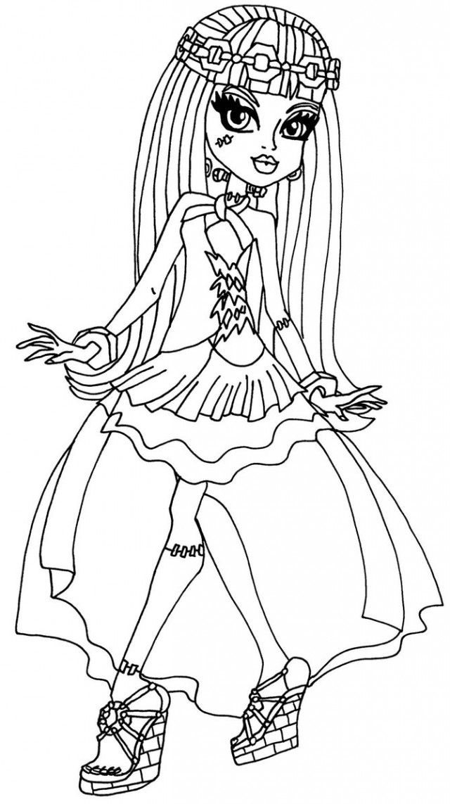 73 best monster high frankie stein 2 images on pinterest for Monster high coloring pages 13 wishes