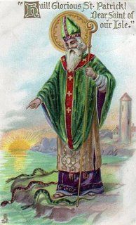 St. Patrick dove the snakes from Ireland and used the Shamrock to teach about the Holy Trinity. G.S.