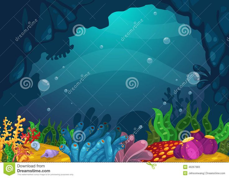 Under The Sea Background Stock Vector Image 46267983