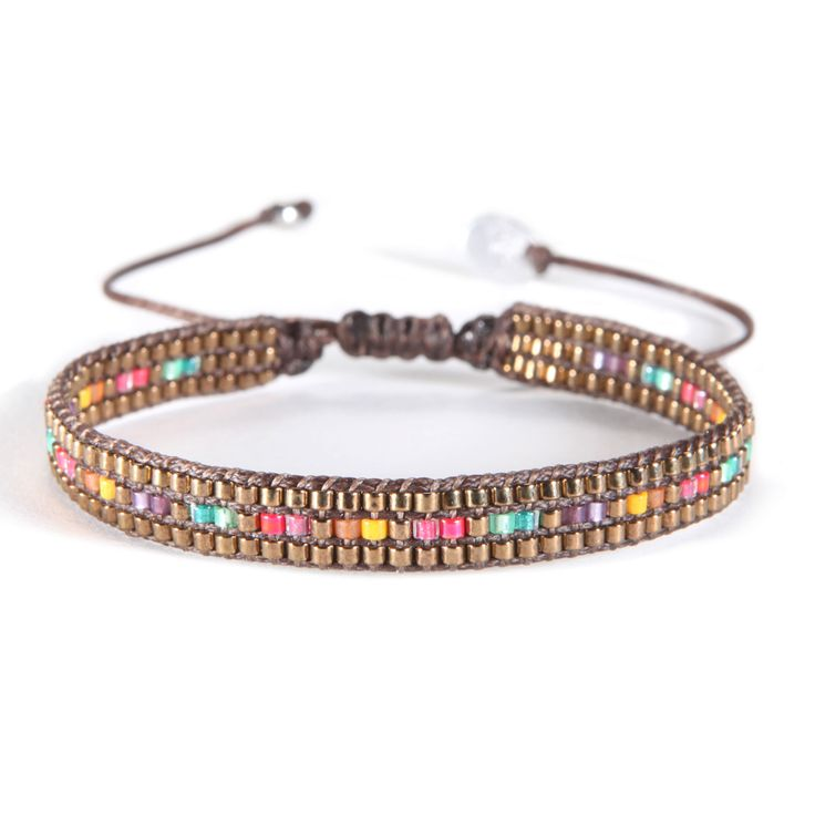 Pulsera Track Multicolor Dark Gold