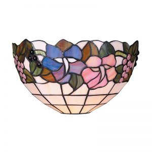Tiffany Style Stained Glass Wall Sconce