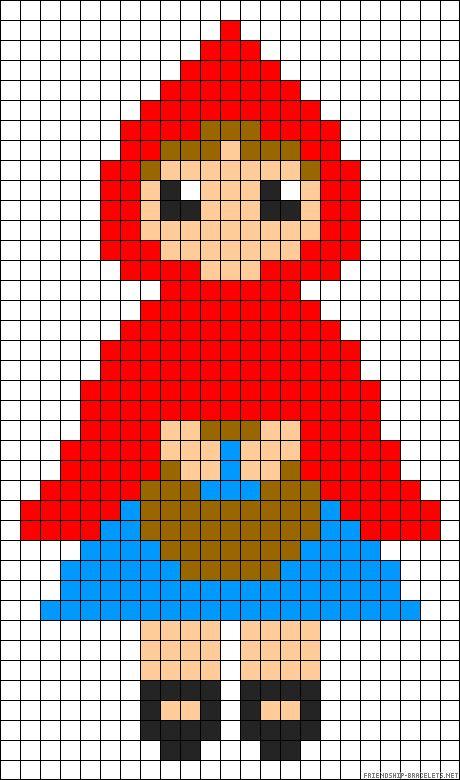 Little Red Riding Hood perler bead pattern