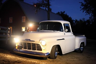 cool white hired pickup truck. photographed by Andrew Bowser