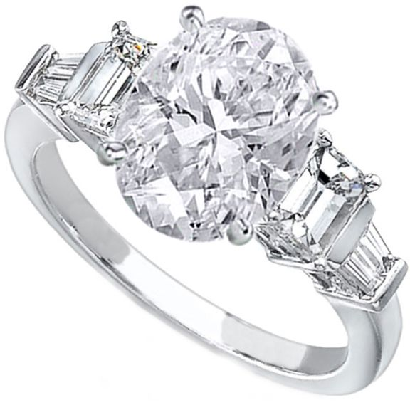Oval Engagement Ring Platinum Settings