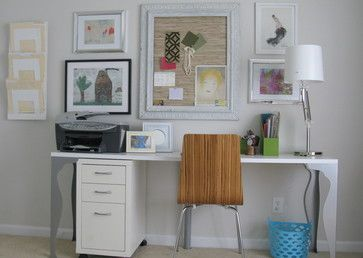 Home Office Photos Art Design, Pictures, Remodel, Decor and Ideas - page 2... Ideas on how to display art... some by the kids