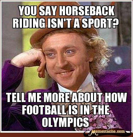 you say horseback riding isn't a sport - Google Search
