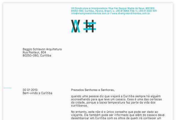 büro uebele // vh vilson hardt construtora e incorporadora visual identity curitiba (brazil) 2013