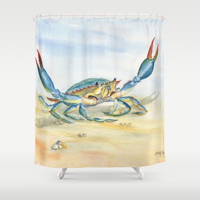 Colorful Blue Crab By Melly Terpening Bluecrab Customize Your