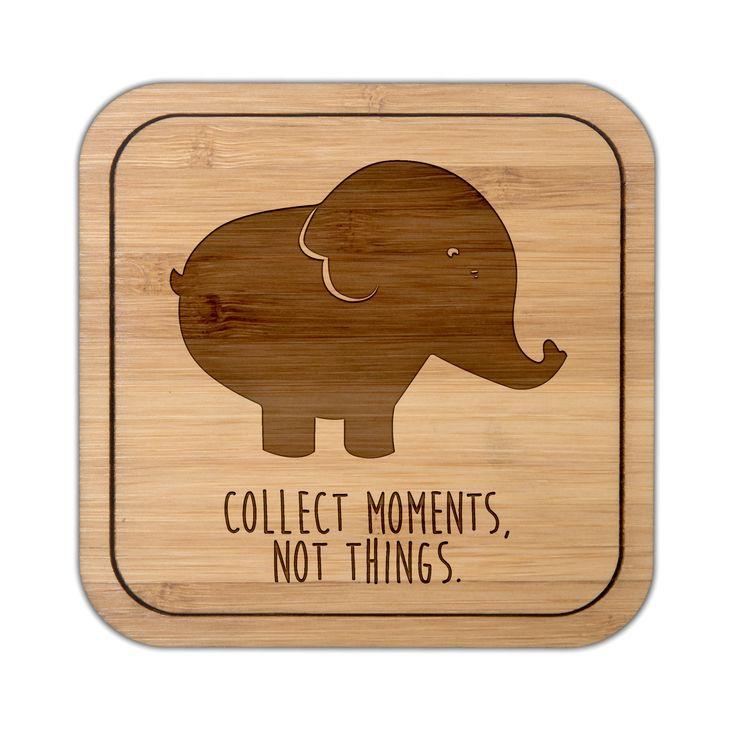 Untersetzer Quadratisch Elefant Aus Bambus Coffee   Das Original Von Mr. U0026  Mrs. Panda
