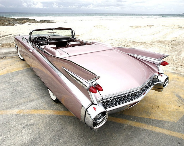 "Fabulous shot of a 1959 Cadillac Eldorado Biarritz by Flickr member ""That Hartford Guy"", Dave S. From a time when car designers didn't care or worry about gas mileage, space needed for parking, or cost, and all that mattered was Va VA Voom factor! These outrageous tailfins, extravagant body design and excessive use of chrome left no one indifferent; it was a love or hate reaction! ~ Epi"