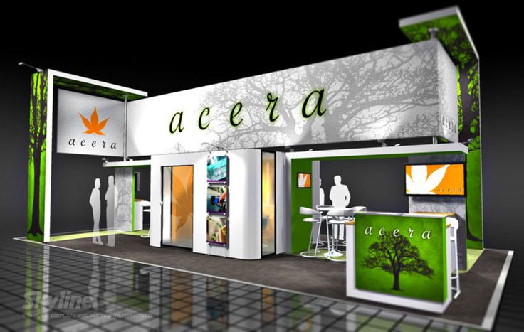 Exhibition Stand Design Harrogate : Love the large overhead space for brand impact with
