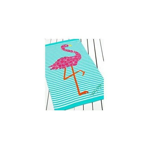 """Beach Towel Oversized Kassatex Organic Cotton 40"""" X 70"""" Mistral... via Polyvore featuring home, bed & bath, bath, beach towels, blue beach towel and oversized beach towels"""