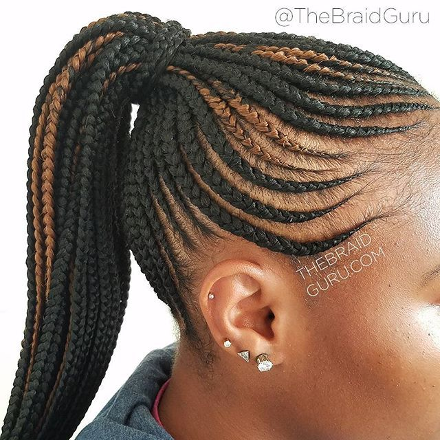 corn rows braided into a ponytail best 25 cornrows ...