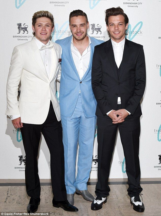 And then there were three: One Direction's Niall Horan, Liam Payne and Louis Tomlinson scr...