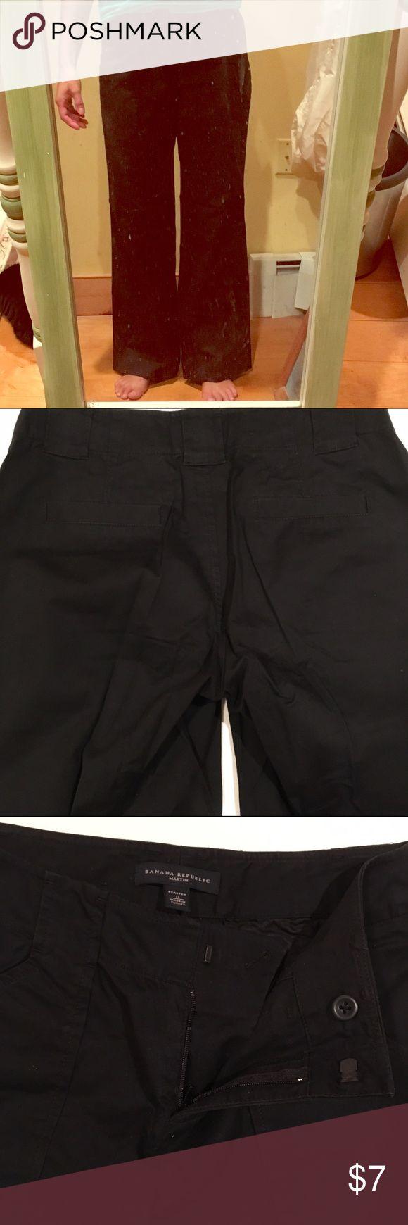 ⭐️Banana Republic black cotton pants Banana Republic Martin stretch.  Worn once excellent condition. Banana Republic Pants