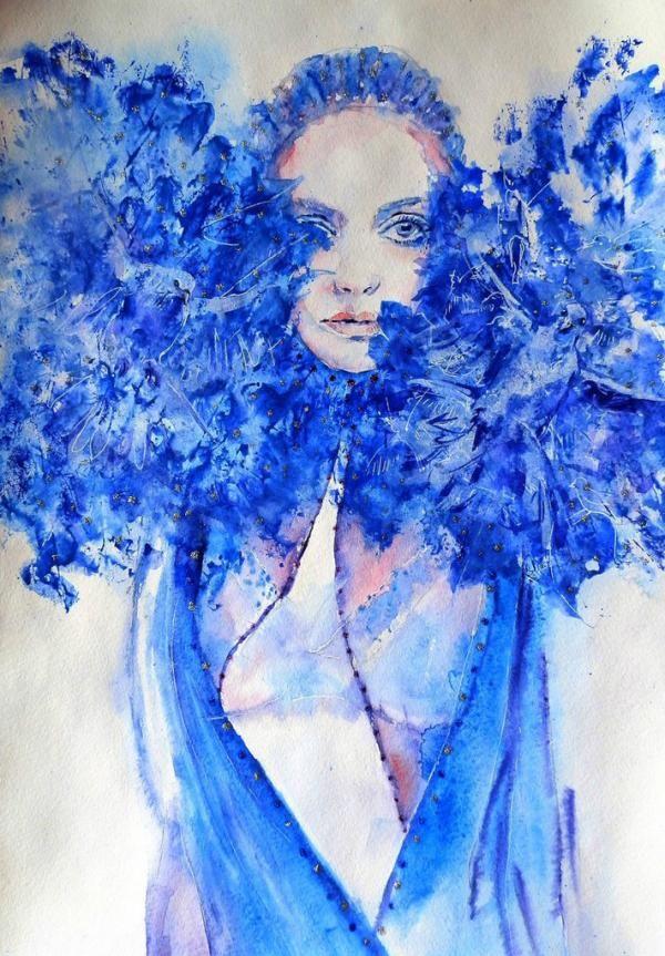 Lana Khavronenko  #watercolor #illustration