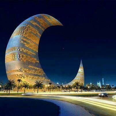 Dubai Crescent Moon