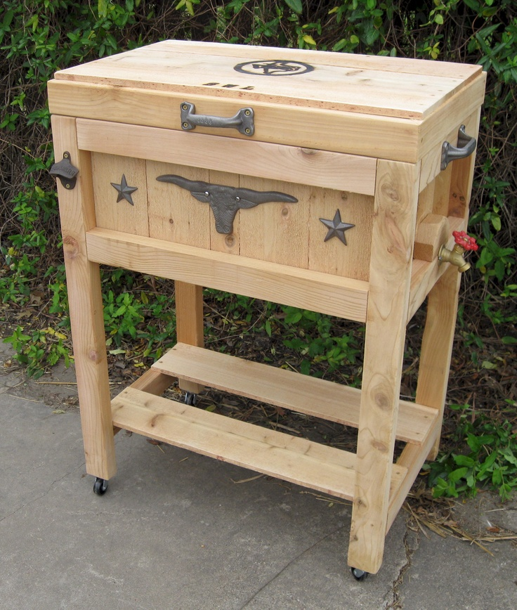 Tallboy Cowboy Country Cooler With Longhorn. I Like How The Lid Is Flush  With The. Cooler StandCooler BoxPatio ...