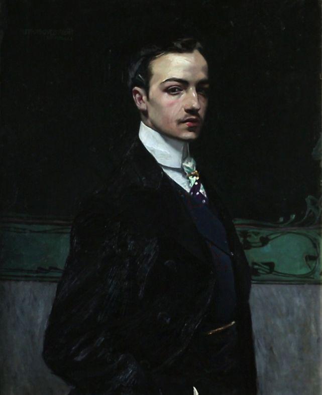 Autorretrato de José María Rodríguez-Acosta (1900). Óleo sobre lienzo, 96 x 78 cm.
