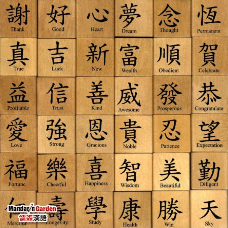 Writing characters of language Chinese There are many theories of how to write characters of language Chinese.                                                   The article from Mandaringarden
