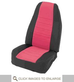 Neoprene Seat Cover Set Wrangler JK 4D 2013-2017 Red by Smittybilt