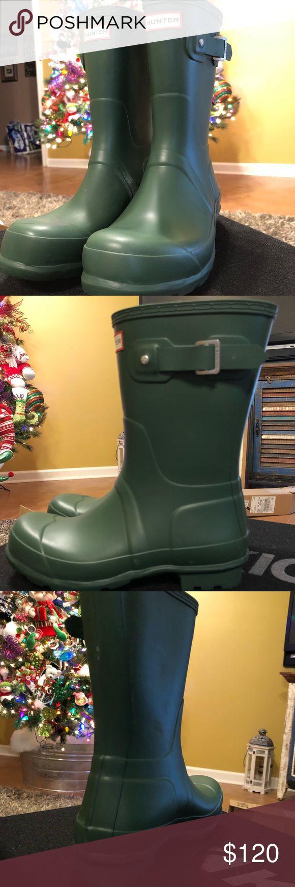 Hunter Rain Boots Brand New, Never worn!  Short Hunter Rain Boots Green   Size: 8 Men's, 10 Womens Hunter Boots Shoes Winter & Rain Boots
