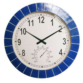 Garden Treasures�Transitional Clock with Thermometer