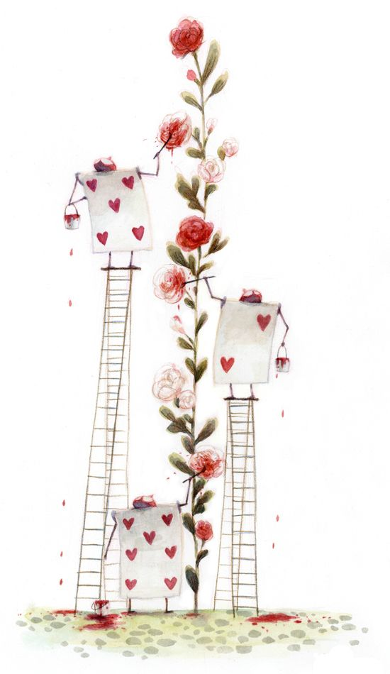 Tim Burton's Alice In Wonderland Concept Art - ROSE VINE, INSIDE ARM