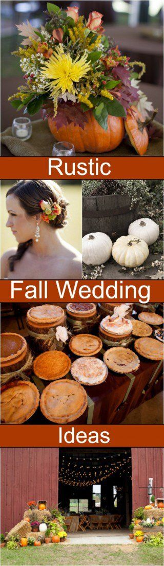 Rustic fall wedding ideas.