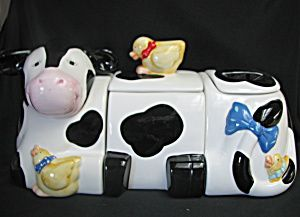 Holstein Cow Canister I Own On Of These But Im Missing The Lid On The