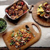 Piri piri chicken with quick Portuguese tarts - 30 minutes meal by Jamie Oliver