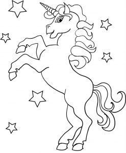 Gambar Mewarnai Unicorn Kuda Gambar Mewarnai Hewan Unicorn