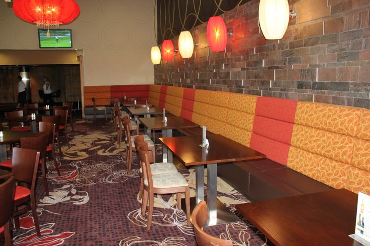 Bespoke banquet seating by Eurofurn.  Fully customised to suit your needs.
