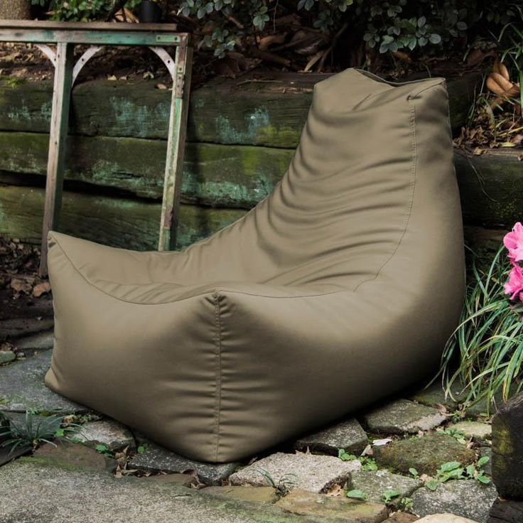 Jaxx Juniper Taupe Outdoor Bean Bag Chair
