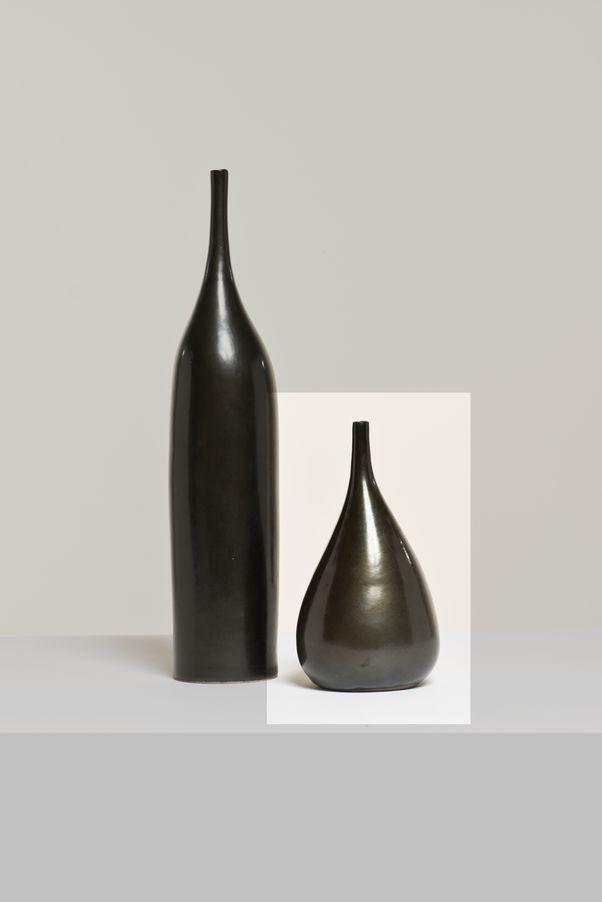 Georges Jouve (1910-1964)  Vase figue  Faïence émaillée