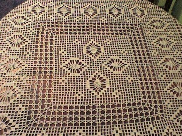 Manteles rectangulares a crochet con patrones imagui - Mantel de crochet ...