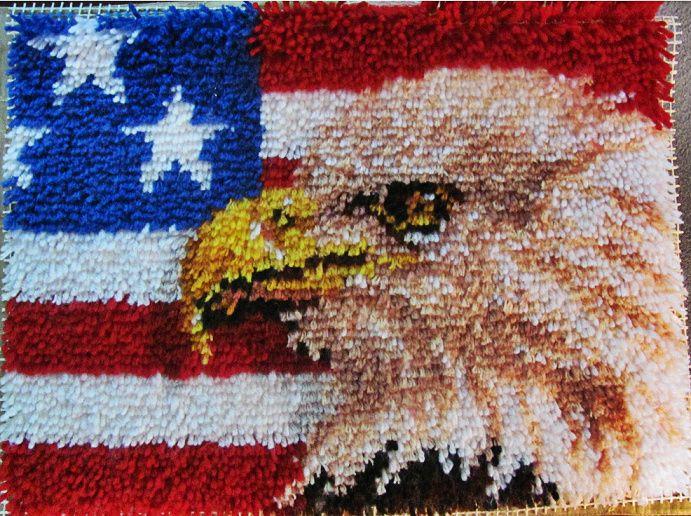 Patriotic Latch Hook Rug