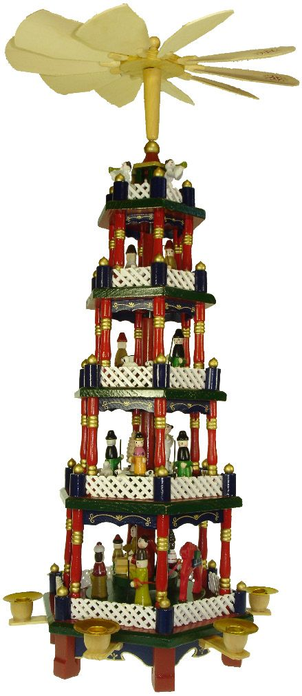 German Christmas pyramids-My Grandma had something very similar to this when I was growing up..