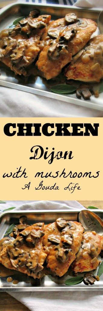 Easy Chicken Dijon with brown rice. Delicious, healthy ~ no canned soup and (gasp!) no cheese, ONE SKILLET ~ oh and it's ready in under 30 minutes. PIN and SAVE!