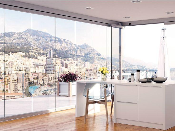 Scarica il catalogo e richiedi prezzi di Balconglas falce by Metalglas Bonomi, vetrata pieghevole, serie Balconglas