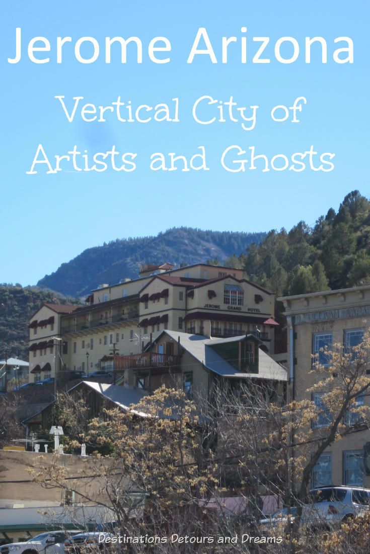 Jerome #Arizona is a vertical city of #ghosts and #artists.