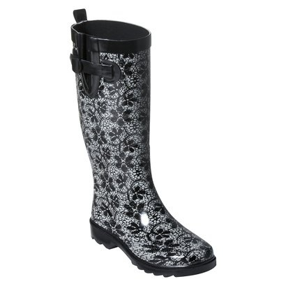 TARGET: Daisies Rain, Black Rain Boots Outfits, Women Lacy, Woman, Shoes Boots, Black Open, Lacy Daisies, Target Rainboot, Rain Boots Daisies Black