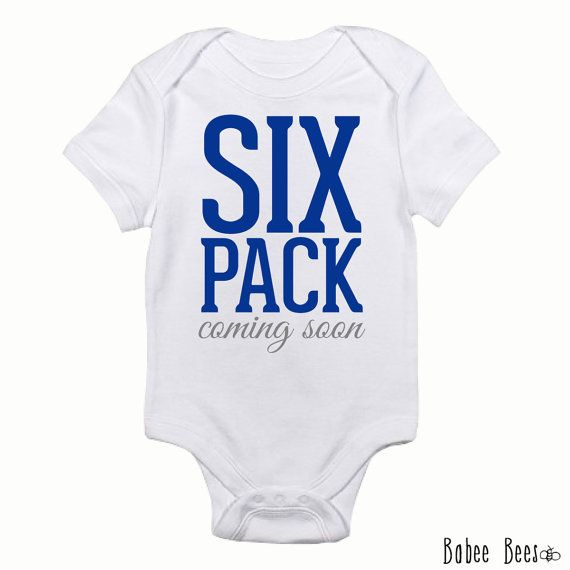 Six Pack Coming Soon Baby Boy Clothes Baby Workout by BabeeBees, $15.00