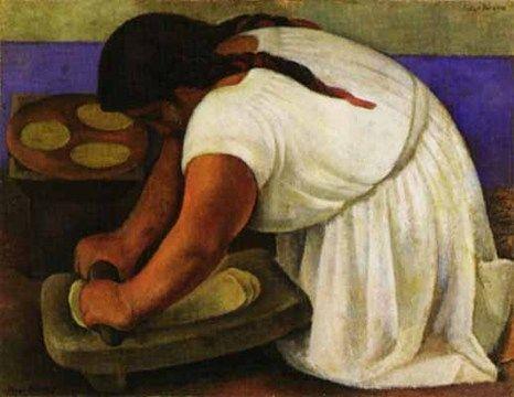 Diego paintingArtists, La Molendera, Frida, Diego Rivera, Chicken Enchiladas, Woman Grind, Grind Maiz, Art Prints, Diegorivera