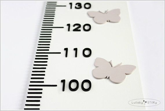 Wooden growth chart-Growth chart with by LullabySTORY on Etsy