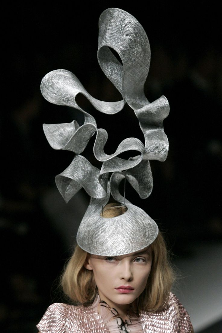 Philip Treacy Hat for Alexander McQueen's White Couture Collection