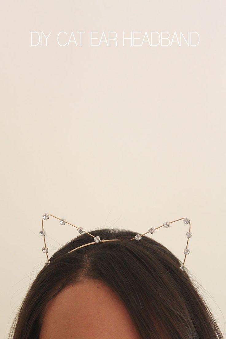 DIY Cat Ear Headband with a little glam :)