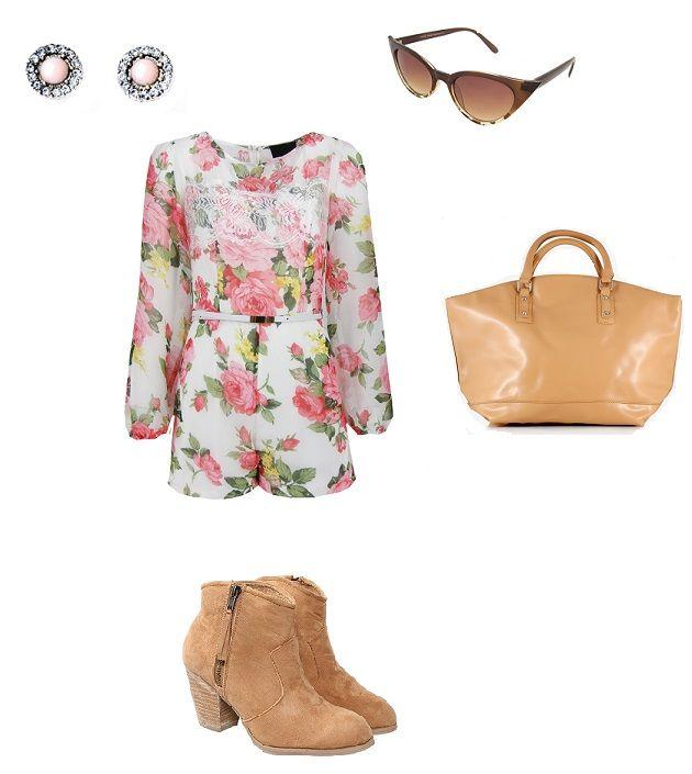 flowers stylization, flowers overalls, boots, sunglasses, accessories, www.magazyn.modadamska.waw.pl